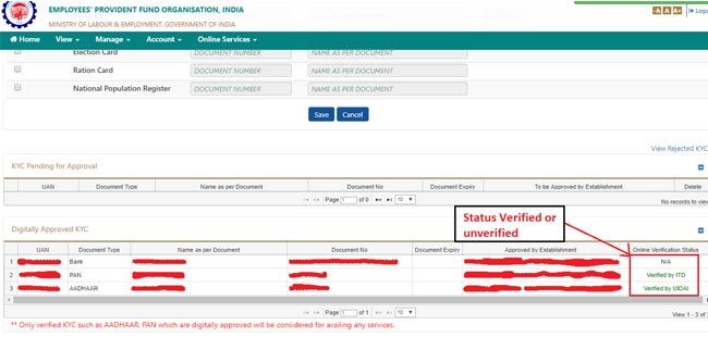 How To Withdraw Pf Amount Online - KYC Status