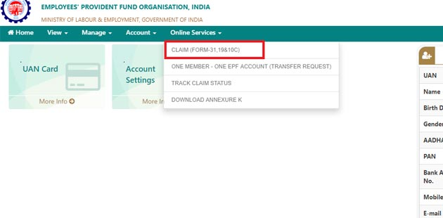 How To Withdraw Pf Amount Online - Online Services Claim